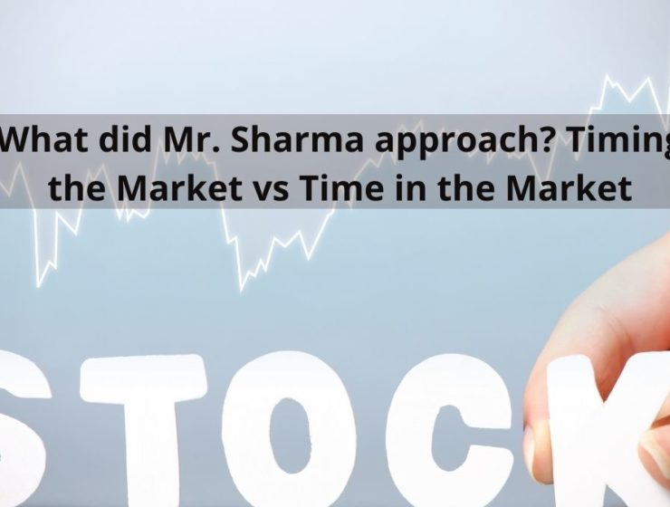 What did Mr. Sharma approach? Timing the Market vs Time in the Market