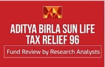 Aditya Birla sun life tax relief