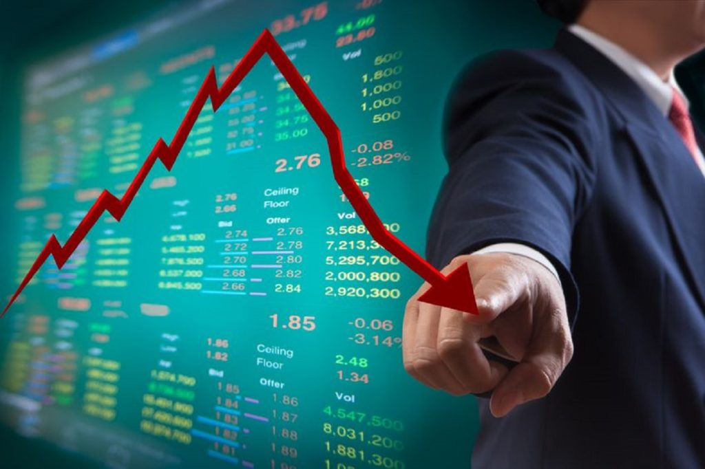 stock down chart